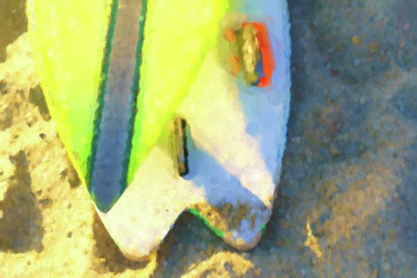 Digital Art - Sixty Nine Surfboard Watercolor by Scott Campbell