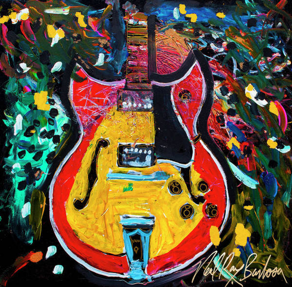 Painting - sixty six Barney kessel by Neal Barbosa