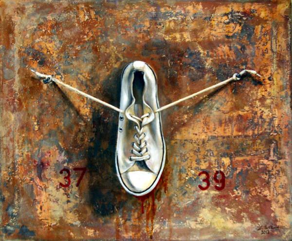 Wall Art - Painting - Size 38 by Leyla Munteanu