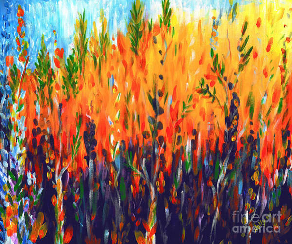Painting - Sizzlescape by Holly Carmichael