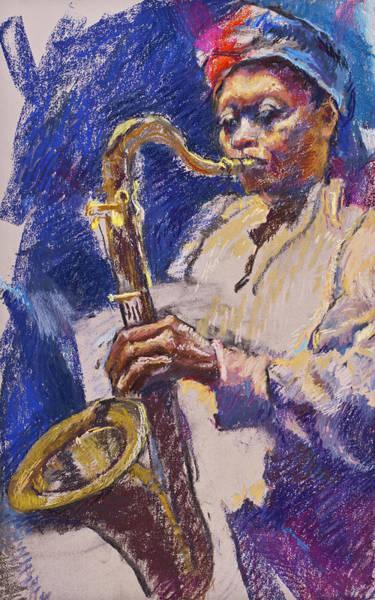 Painting - Sizzlin' Sax by Ellen Dreibelbis
