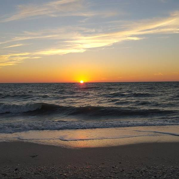 Sunset Wall Art - Photograph - Sizzling Waters by Ric Schafer
