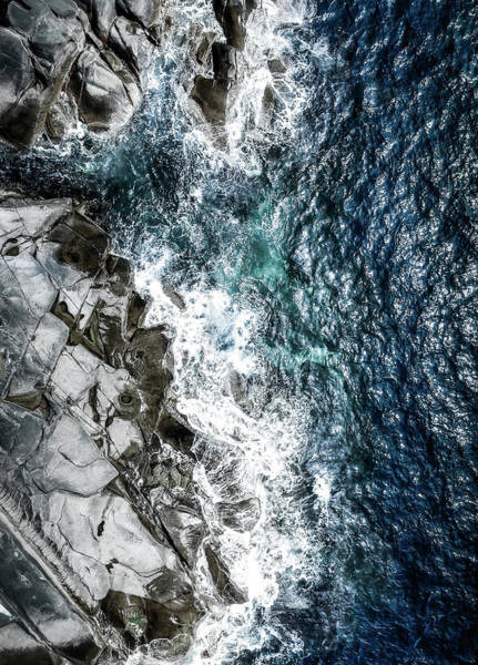 Cliff Photograph - Skagerrak Coastline - Aerial Photography by Nicklas Gustafsson