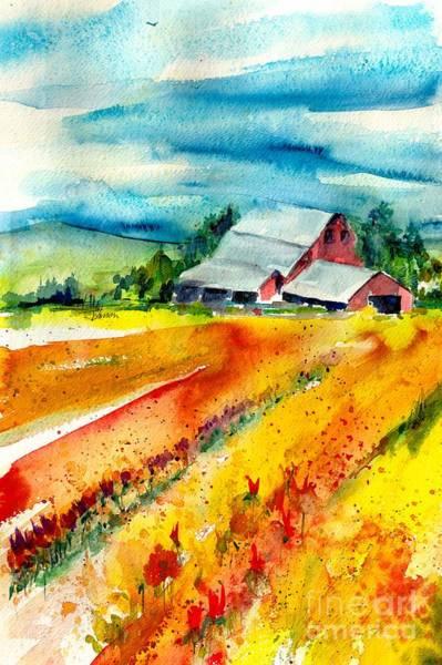 Skagit Valley Painting - Skagit Barn by Susan Blackaller-Johnson
