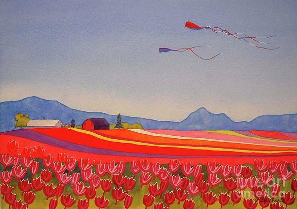Wall Art - Painting - Skagit Valley Perfect Day by Annette McGarrahan