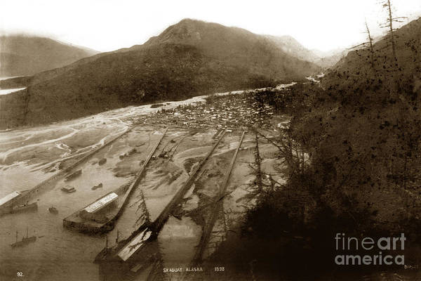 Photograph - Skagway, Alaska View From Hill Over Looking 1898 by California Views Archives Mr Pat Hathaway Archives