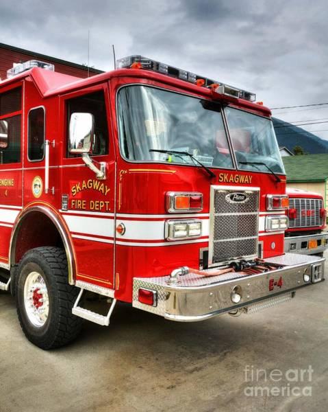 Photograph - Skagway Fire Truck by Mel Steinhauer