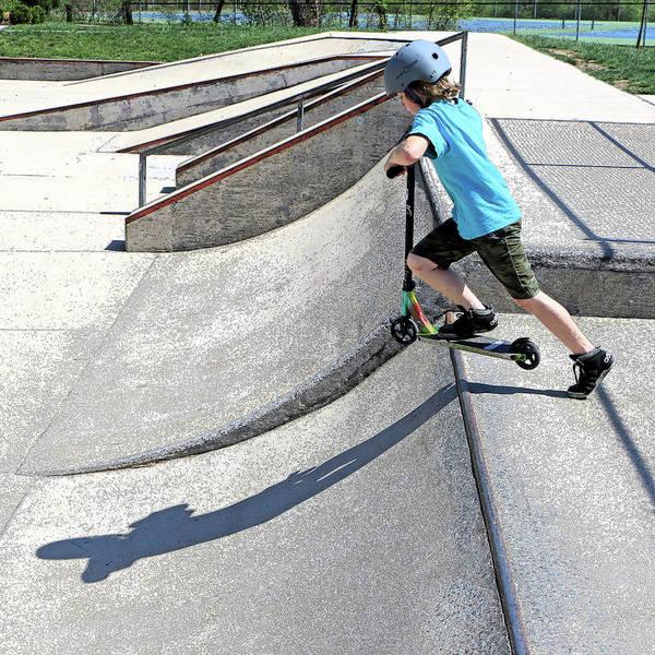 Roller Blades Photograph - Skate Park Fun by Christopher McKenzie