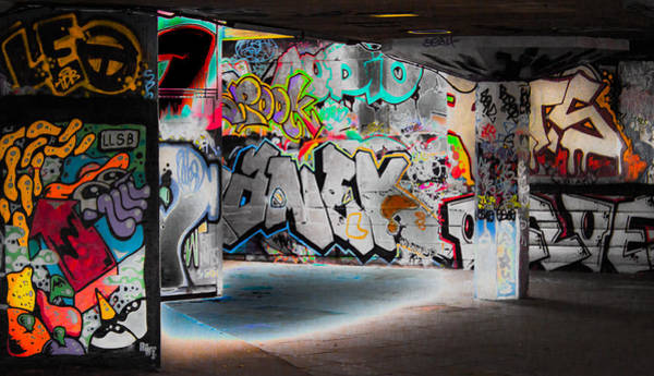 Wall Art - Photograph - Skatepark Graffiti Southbank 2 by Mo Barton