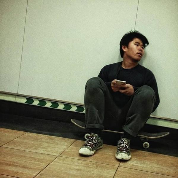 Skater #skate #streetphoto Art Print