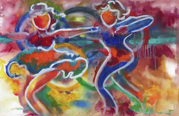 Pairs Skating Painting - Skaters Gold Medalist by Lola Waller