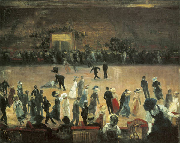 Painting - Skating Rink New York City by William Glackens