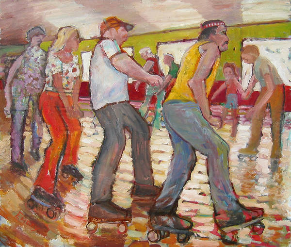 Painting - The Skaters by Paul Emory