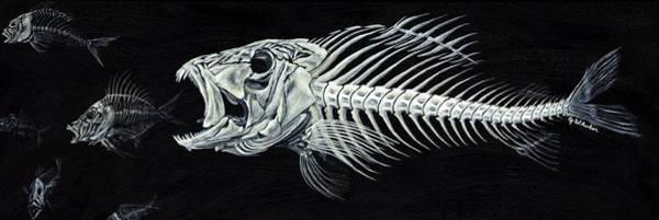 Bone Painting - Skeletail by JoAnn Wheeler