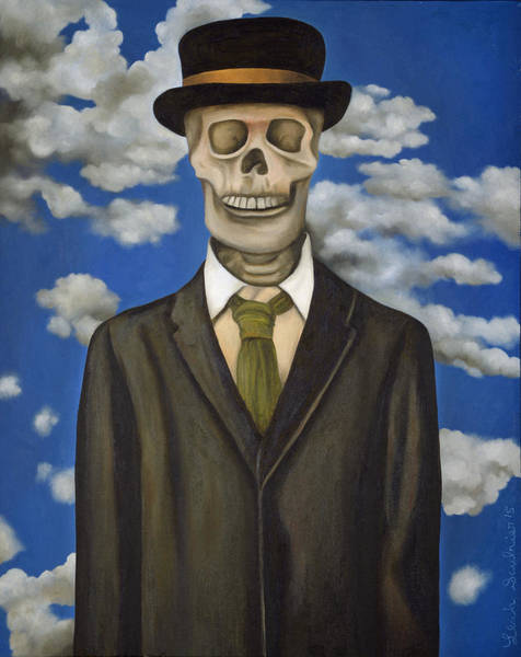Painting - Skeleton From My Closet by Leah Saulnier The Painting Maniac