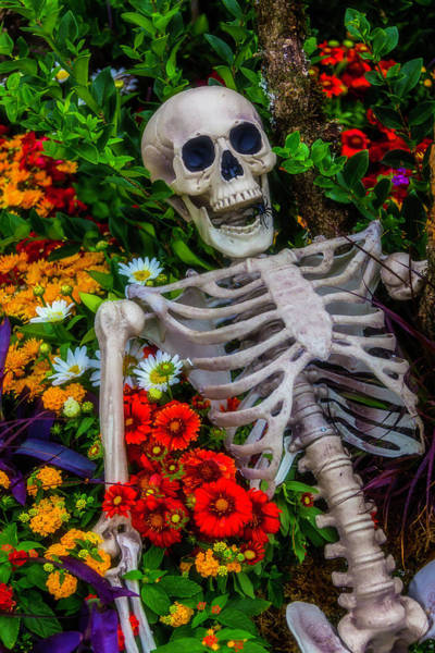 Wall Art - Photograph - Skeleton In The Garden by Garry Gay