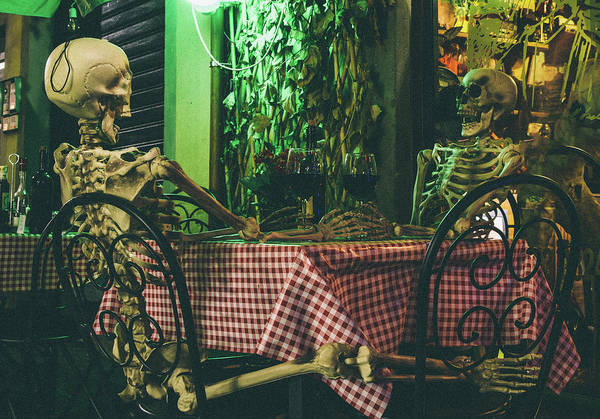 Photograph - Skeletons On A Date by Alexandre Rotenberg