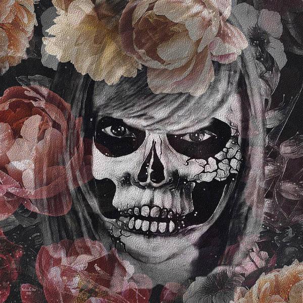 Digital Art - Skelton Ghost by Artful Oasis