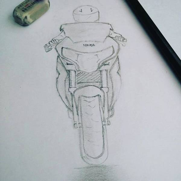 Drawing - Sket Cbr250r #cbr250r by Yusup Darman Jati