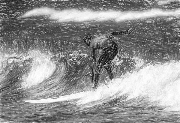 Oregon Coast Mixed Media - Sketch A Wave by Bill Posner