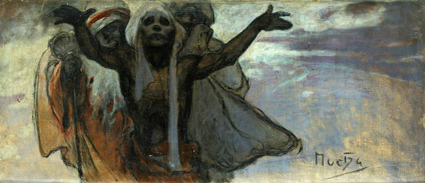 Alphonse Mucha Painting - Sketch For The Slav Epic by Alphonse Mucha
