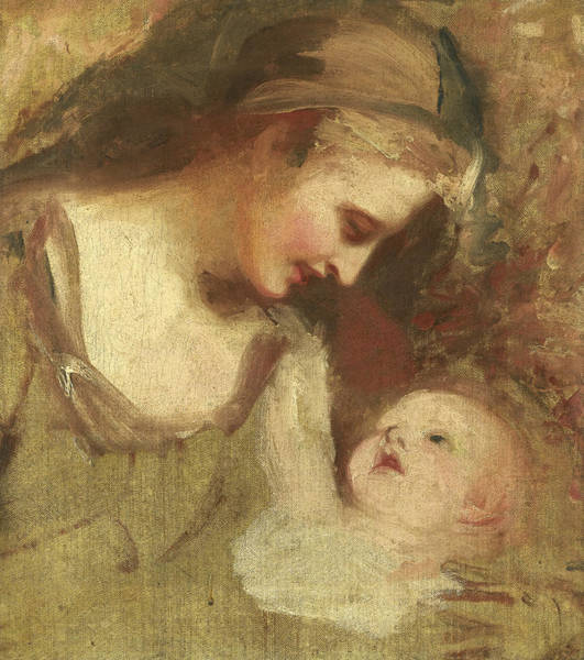 Romney Painting - Sketch Of A Mother And Child by George Romney