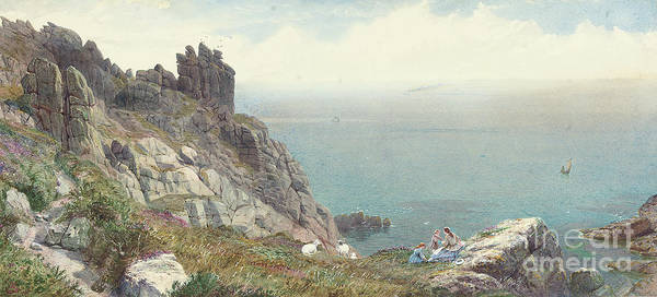 Rocky Coast Painting - Sketch On The Cornish Coast by Anthony Carey Stannus