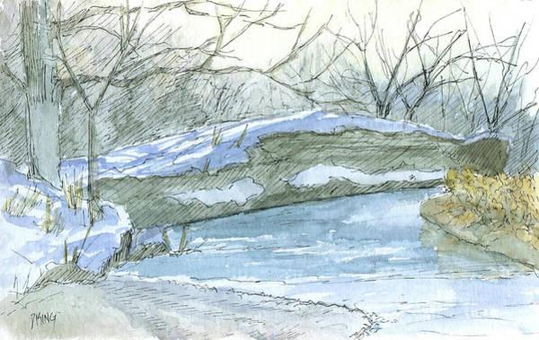 Snow Bank Painting - Sketchbook 100 by David King
