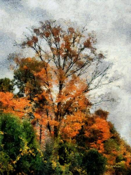 Painting - Sketchy Sky by RC DeWinter