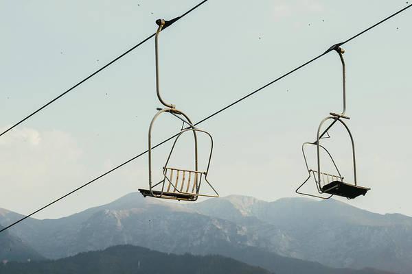 High Tatras Wall Art - Photograph - Ski Lift In Summer Sky by Pati Photography