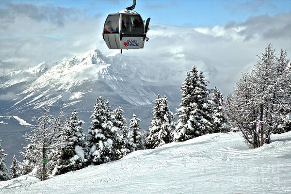 Photograph - Ski Louise Gondola In The Sky by Adam Jewell