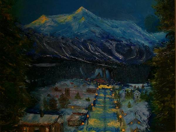 Wall Art - Painting - Ski Resort by Stephen King