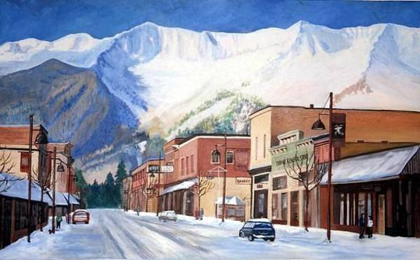 Painting - Skier's Challenge by Sue Nelson