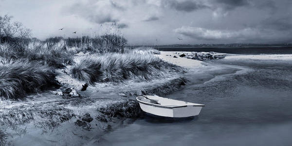 Photograph - Skiff On The Sandbar by Robin-Lee Vieira