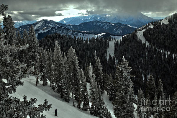 Photograph - Skiing From Great Western by Adam Jewell