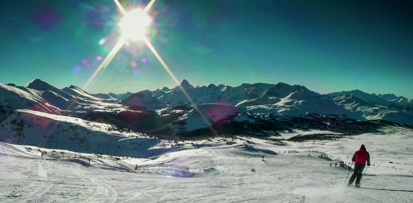 Photograph - Skiing Sunshine by Philip Rispin
