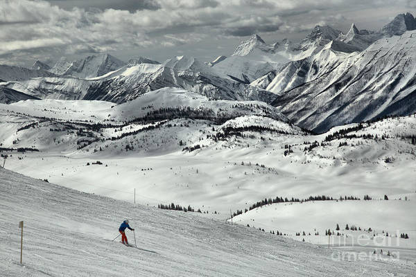 Photograph - Skiing Through The Canadian Rockies by Adam Jewell