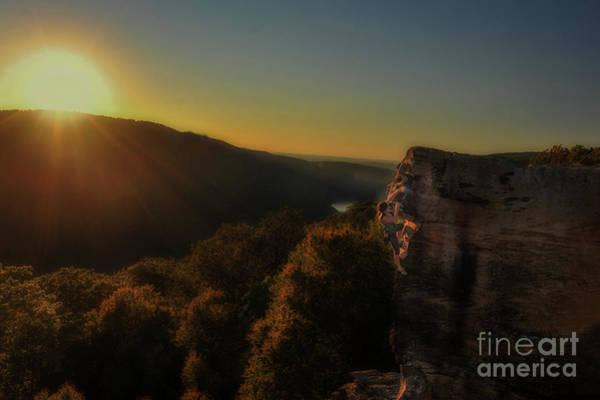 Photograph - Skilled Climber In Evening Sun by Dan Friend