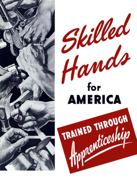 Wall Art - Mixed Media - Skilled Hands For America by War Is Hell Store