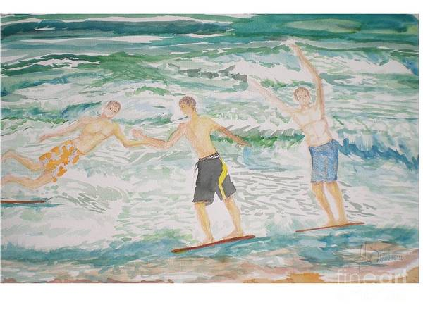 Skim Boarding Daytona Beach Art Print