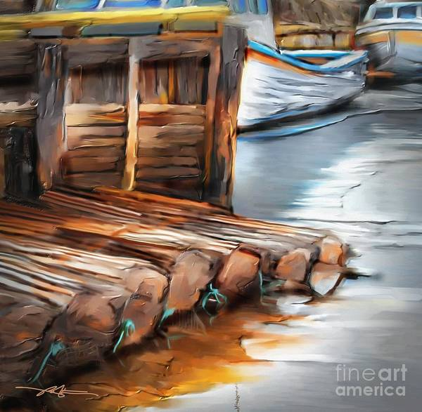 Prince Edward Island Painting - Skinner's Pond by Bob Salo