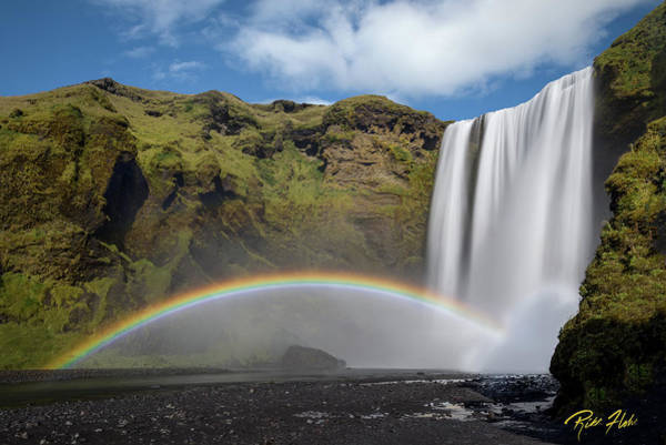 Photograph - Skogafoss And Companion Rainbow by Rikk Flohr