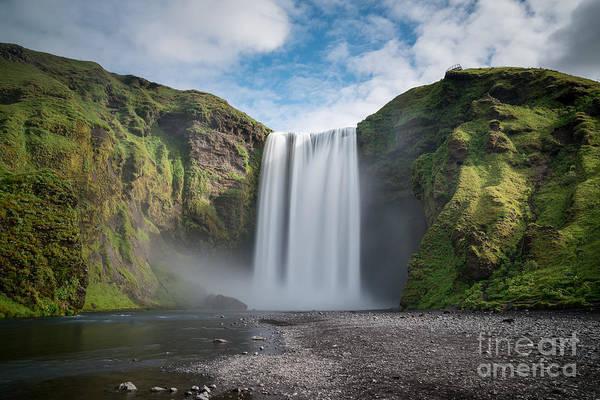 Printer Photograph - Skogafoss Iceland Long Exposure by Michael Ver Sprill