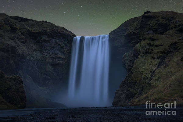Photograph - Skogafoss Under The Stars by Michael Ver Sprill