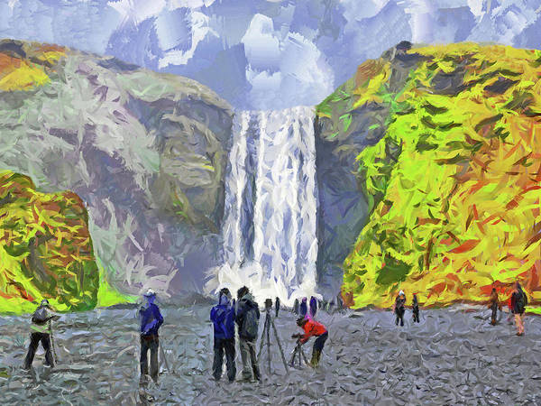 Digital Art - Skogafoss Waterfall by Digital Photographic Arts