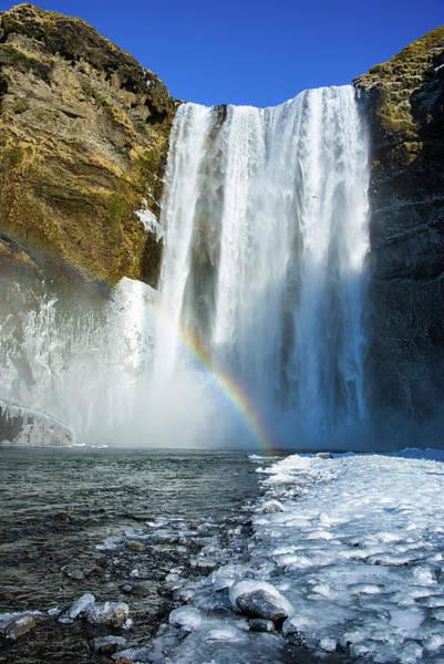 Photograph - Skogafoss Waterfall Iceland In Winter by Matthias Hauser