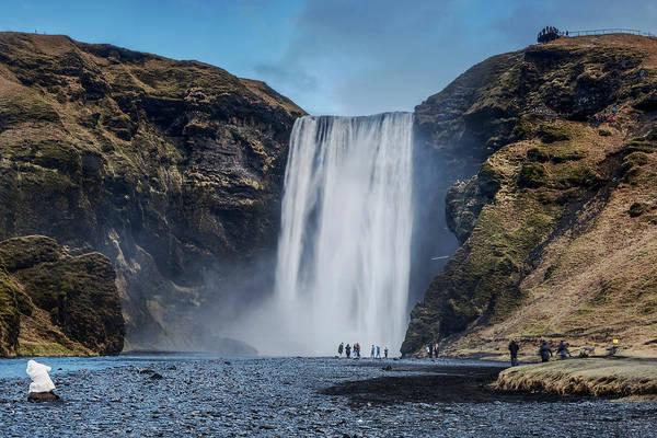 Photograph - Skogafoss Waterfall In Iceland by Pradeep Raja PRINTS