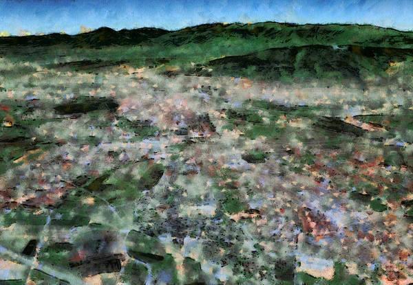 Macedonia Digital Art - Skopje by Marjan Mencin