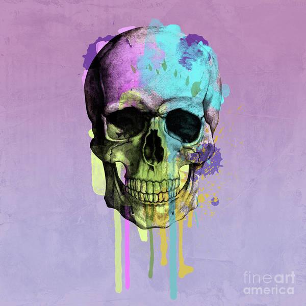 Scary Digital Art - Skull 6 by Mark Ashkenazi