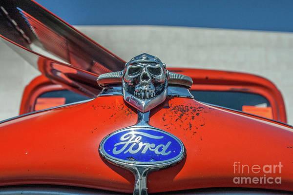 Photograph - Skull Radiator Cap  by Tony Baca